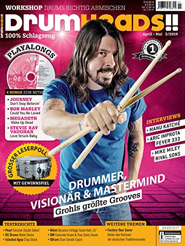 Foo Fighters Interview Dave Grohl Sänger / Workshop Drums richtig abmischen / Pearl Session Studio Select im Test