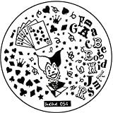 STAMPING-SCHABLONE # hehe-054 Joker, gioco carte, Casino, a forma di cuore, picche, a quadri, a forma di croce
