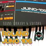 Para Roland Juno-106gran fábrica y nueva biblioteca de sonido creado y editores en CD