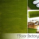 floor factory Moderner Teppich Kolibri grün 140x200cm - farbenfroher, pflegeleichter Teppich mit kurzem Flor