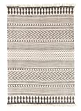 Trendcarpet Teppich 140 x 200 cm (baumwollteppich) - Marrakech (schwarz/grau/weiß) Größe 140 x 200 cm