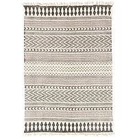 822196ac95e9a2 Trendcarpet Flickenteppich Groß - Marrakech (schwarz/grau/weiß) 200 x 300 cm