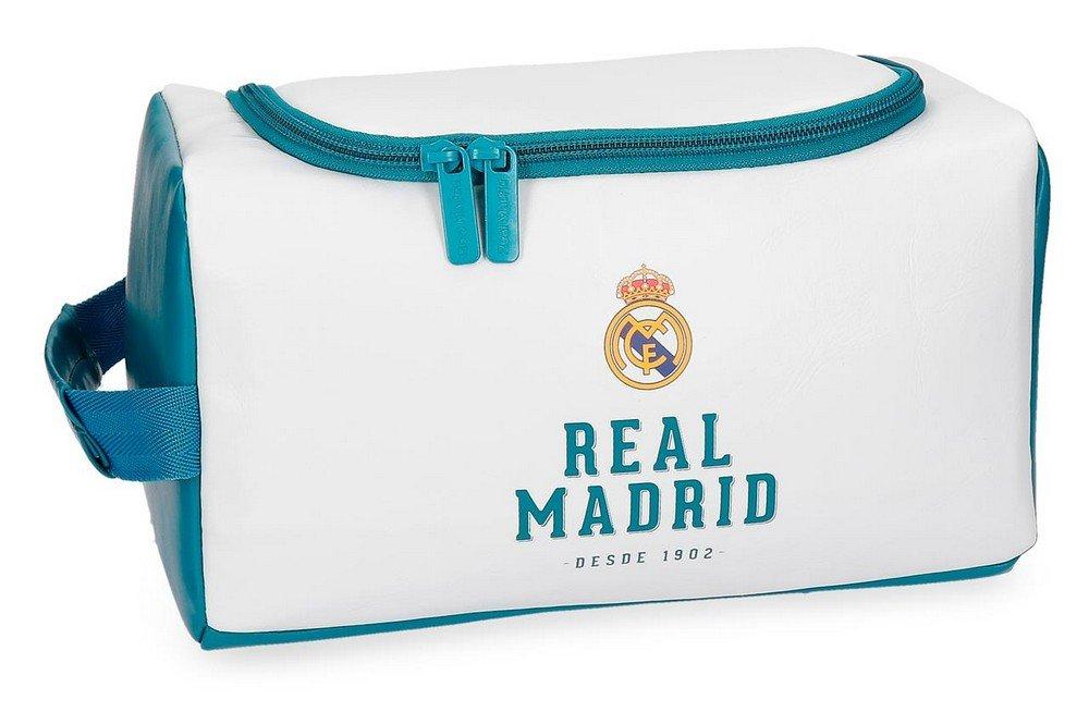 Real Madrid RM GOL Neceser de Viaje, 26 cm, 6.24 litros, Blanco