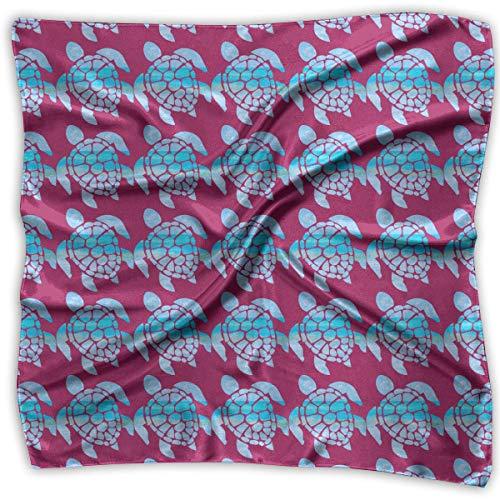 Für Urlaub Kostüm Autos - Damen Schal, Schildkröte, quadratisch, weich, 100% Polyester, Weiß