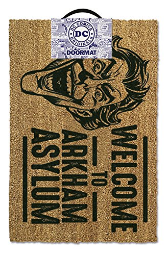 Batman The Joker Welcome to Arkham Asylum Door Mat Paillasson, Multicolore, 40 x 60 x 1,5 cm