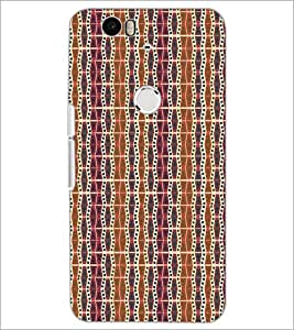 PrintDhaba Pattern D-5211 Back Case Cover for HUAWEI NEXUS 6P (Multi-Coloured)