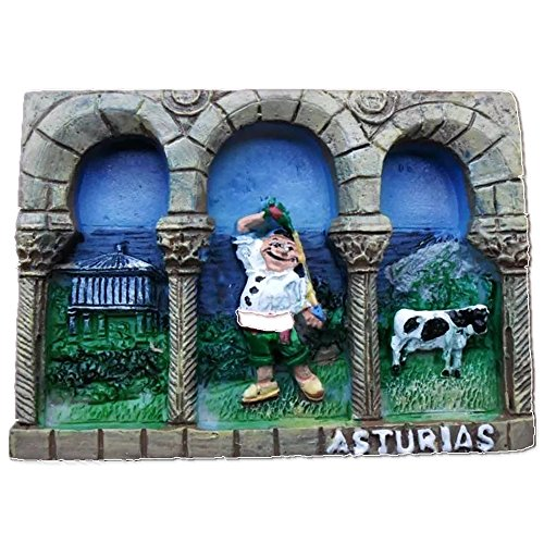 Asturias Spain Europe City World resin 3d strong magnet for fridge souvenir tourist gift Chinese magnet handmade creative home and kitchen magnetic decoration