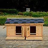 Bonwg Haustier liefert Hundehaus Wasserdichten Outdoor-Massivholz-Villa und mittelgroßen Hundehütte-Haustiernest liefert S.M.L.XL, M