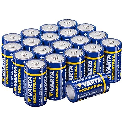 VARTA Industrial - Pilas alcalinas C/LR14/Baby 1,5 V / 20 Unidades