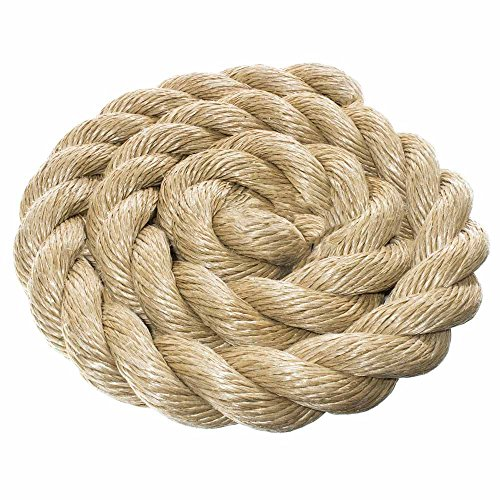 ProManila Rope - Three Strand Twisted Rope with a 2 inch Diameter - Choose 10, 25, 50, 100ft Lengths