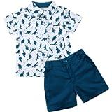 Carolilly 2 Pezzi Completo Bambino Set Coordinato Camicia Magliette Estive Stampa Dinosauro + Pantaloncini Bambino da…
