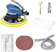 KKmoon Professional Air Random Orbital Palm Sander, Dual Action Pneumatic Sander With Vacuuming Bag, Low Vibration, Heavy Dut
