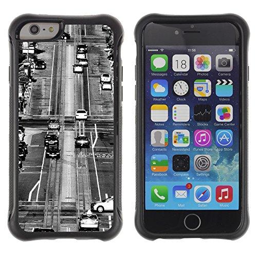 Graphic4You California Street Postkarte Ansichtskarte Design Shockproof Anti-Rutsch Weichen Hülle Case Tasche Schutzhülle für Apple iPhone 6 / 6S Design #2
