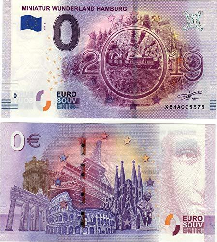 Eurosouvenir 0 Euro Schein Miniatur Wunderland Hamburg 2019