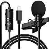 YOTTO Micrófono de Solapa Lavalier Conector Omnidirectional Condensador Micrófono 6.5M de Video Audio para iPhone iPad iOS mi
