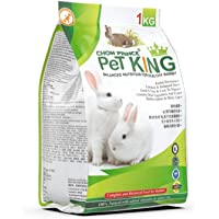 Petking Premium Rabbit Food, Nutritionist Choice with alfa hay (Halal India Certified)-1 kg Dry Pallet