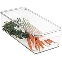 mDesign boîte de Rangement avec Couvercle – bac Alimentaire en Plastique pour Fruits, légumes, Fromage, etc. – Rangement…
