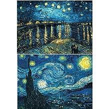 Set de pintura de diamante de imitación 5D Lucaswang, diseño de noche estrellada, viene