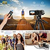 "Docooler Andoer FHD 1080P Portable Digital Video Camecorder Camera Infrared Night Vision 3.0"" Rotating LCD Screen 16X Digital Zoom 24MP with Remote Control"