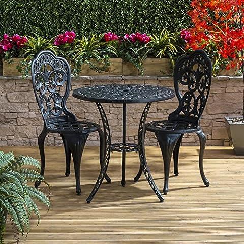 Traditional Cast Aluminium Cafe Bistro Outdoor Garden Furniture Table &