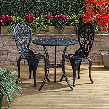 traditional cast aluminium cafe bistro outdoor garden furniture