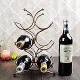 Frizzante vino rack pendolo mobilia portabottiglie bronzo placcato filo di acciaio