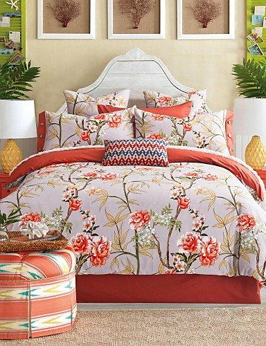 kiuytghnb americano famiglia di quattro cotone pienamente attivo stampa biancheria da letto suite Queen/King Size king-white oak king-white oak