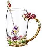 COAWG Tiang Glass Tea Cup,Tazza da caffè con Manico,Unico Personalizzato Idee Regalo di Compleanno per Le Donne Nonna Mamma A