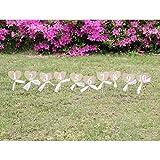 ULTNICE Hochzeit Tischnummern 1-10 Herz Form Banner Dekor mit Stick