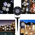 MAIKEHIGH Weihnachten Projektor Lampe Moving White Schneeflocke LED Landschaft Projektionsleuchten Outdoor / Indoor Dekor Lichter Bühnenbestrahlung für Weihnachtsfeier Holiday Home Dekoration Garten Baum Wand