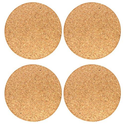 COM-FOUR® 4x mantel de corcho con base de fieltro