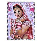 Poster Sonakshi Sinha rot weißer Sari Blumen 75 x 50 cm