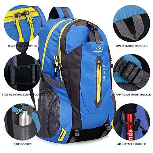 Imagen de 40l  de senderismo ligero, yunplus múltiples funciones impermeable casual  camping para deporte al aire libre escalada trekking alpinista 52 x 33 x 16 cm alternativa