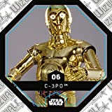 Rewe STAR WARS Cosmic Shells Normal 06 C-3PO + WIZUALS STICKER