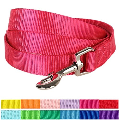 blueberry-pet-durable-classic-solid-color-dog-lead-150-cm-x-15cm-in-french-pink-small