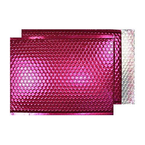 Blake Purely Packaging MBP250 Luftpolsterversandtasche, Haftklebung mit Abziehstreifen, C5+, 250 x 180 mm, 100-er Pack, metallic-rosa