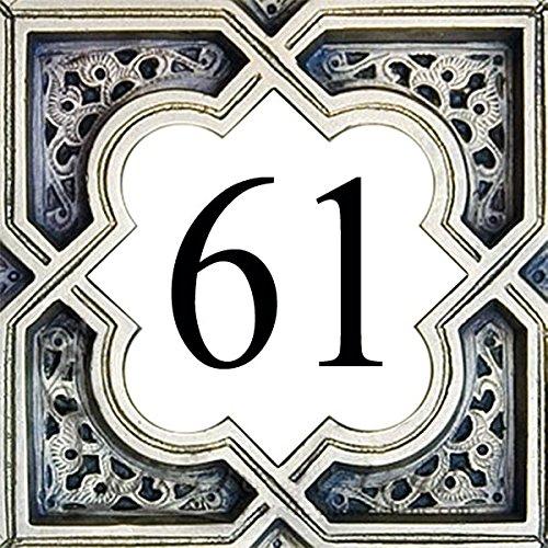 Azul\'Decor35 Keramik Hausnummer - Wählen Sie Ihre Nummer und die Größe Ihrer Straßenschild!