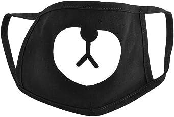 Unisex Schwarz Maske Mundschutz für Radfahren Anti-Staub Gesichtsmaske