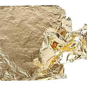 Creativ 16 x 16 cm Imitation Metal Leaf 25 Sheet, Gold