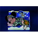 Disney Peluche Veilleuse Brille Dans la Nuit - Mickey Glow in the Dark - 30 cm