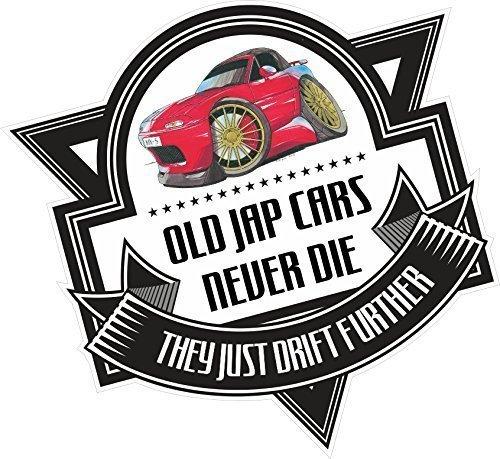 disegno-a-forma-di-vecchio-jap-cars-never-die-a-forma-di-scritta-old-skool-per-mazda-mx-5-eunos-badg