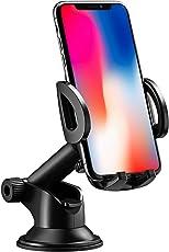 Mpow KFZ handyhalterung auto, Kfz smartphone Handyhalterung, 360 ° Drehung, Einhandbedienung,auf Armaturenbrett / Windschutzscheibe autohandyhalterung, 2 in 1 Handyhalter für Auto für iPhone ,Samsung Galaxy, Google Nexus , LG, Huawei und mehr