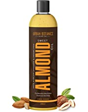 UrbanBotanics® Pure Cold Pressed Sweet Almond Oil for Hair and Skin, 200ml ( Odorless )