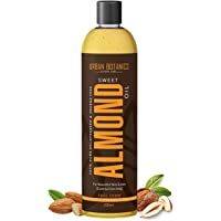 UrbanBotanics® Pure Cold Pressed Sweet Almond Oil for Hair and Skin - Badam Oil - 200ml (Odorless)