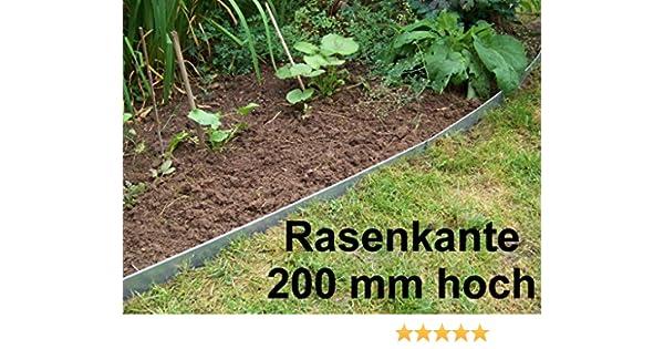 Fabulous Rasenkanten aus Edelstahl, V2A, 200 mm hoch, Beeteinfassung, 10er IB15