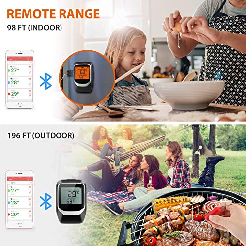 Zoom IMG-2 sendowtek termometro bbq per barbecue
