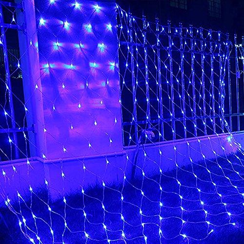 HJ® LED Lichternetz 204er, ca. 2 x 2 m Weihnachtsbeleuchtung Lichterketten , für innen/außen, Blau