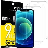 """NEW'C 3 Pezzi, Vetro Temperato Compatibile con iPhone 12/12 Pro (6.1""""), Pellicola Prottetiva Anti Graffio, Anti-Impronte…"""