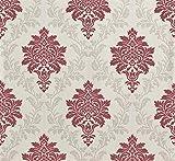 Rasch Vliestapete cremeweiß grau rot metallic Barock Rasch 858839