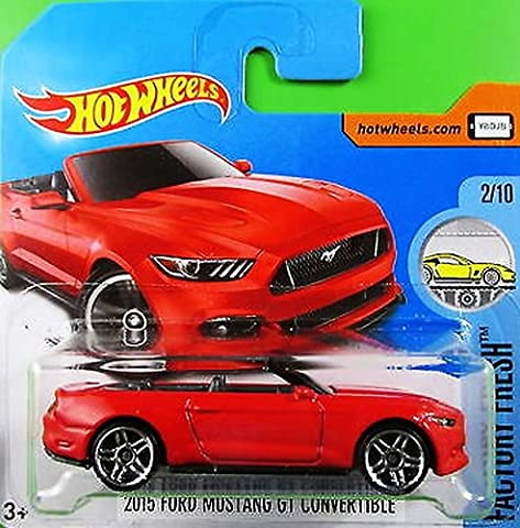 HOT WHEELS® Ford Mustang GT Convertible - Cabrio 2015 - 1:64 - rot